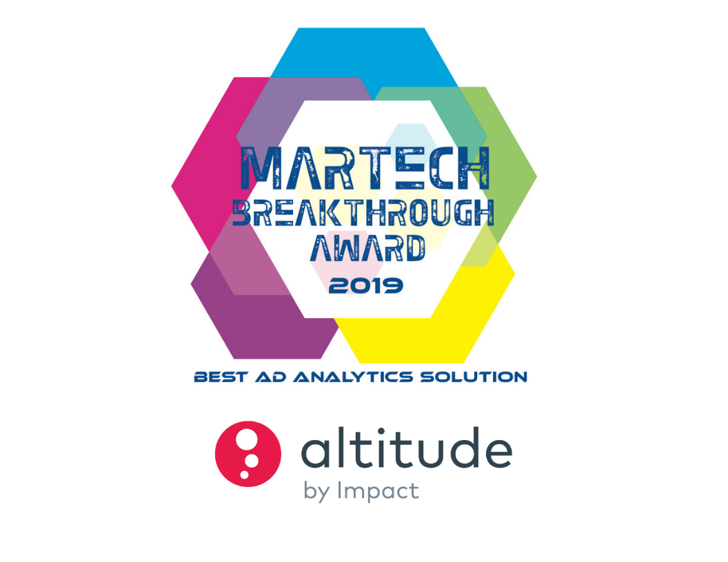 Martech awards 2019 Winner - Altitude by Impact