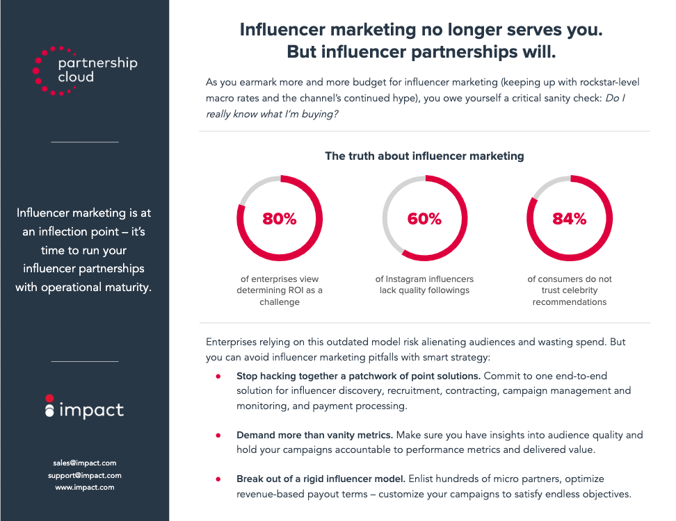 Partnership Cloud One Sheet for Influencer Marketers