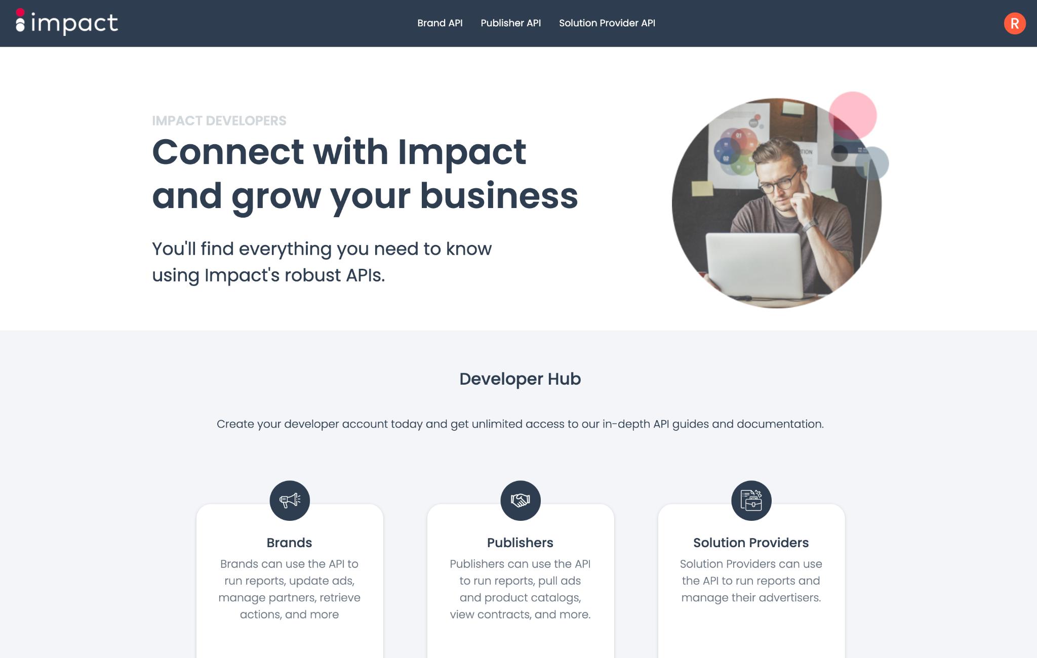 impact API developer hub